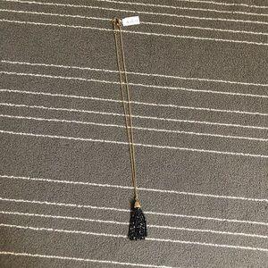 New! J.Crew long beaded tassel necklace